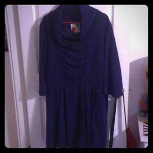 Fervour brand from ModCloth blue dress w/ pockets!